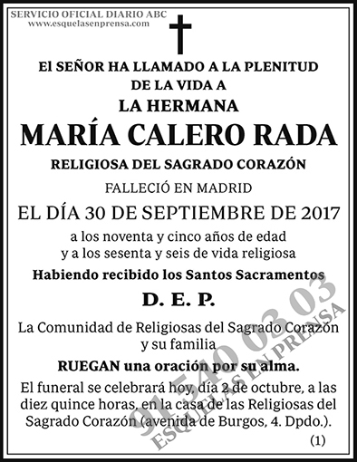 María Calero Rada